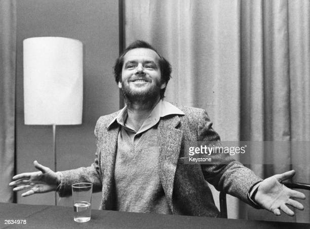 US actor Jack Nicholson at an expressive moment