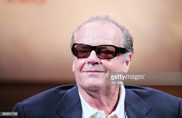 Actor Jack Nicholson attends 'The Bucket List' press conference at the Grand Hyatt Tokyo on April 30 2008 in Tokyo Japan