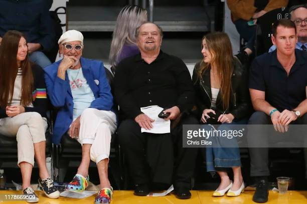 Actor Jack Nicholson attends the game between the Los Angeles Lakers and the Utah Jazz on October 25 2019 at STAPLES Center in Los Angeles California...