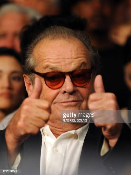 Actor Jack Nicholson attends the Junior Welterweight title fight between Manny Pacquiao of the Philippines and Ricky Hatton of England at the MGM...