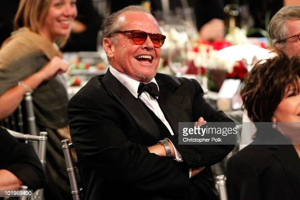 Actor Jack Nicholson in the audience during the 38th AFI Life Achievement Award honoring Mike Nichols held at Sony Pictures Studios on June 10, 2010...