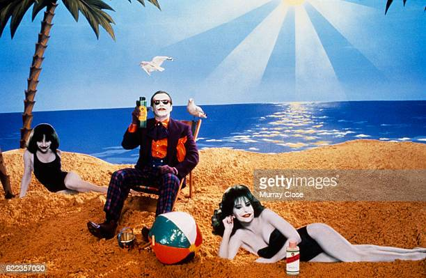 Actor Jack Nicholson is the Joker in Tim Burton's Batman.