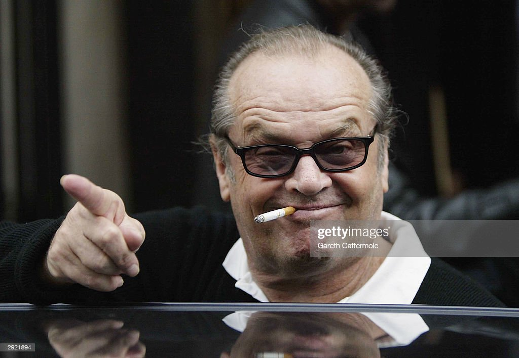 apr actor jack nicholson turns photos and images getty images actor jack nicholson points to the press as he leaves claridges hotel 2 2004