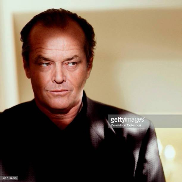 Actor Jack Nicholson poses for a photo shoot in 1993 in his hotel room in Los Angeles California