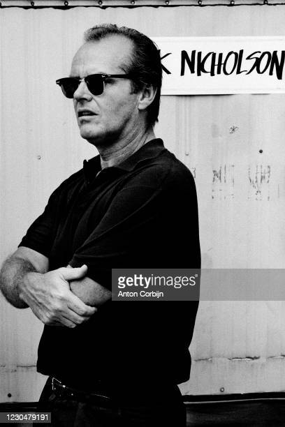 Actor Jack Nicholson poses for a portrait in Pennsylvania, on July 13, 1985.