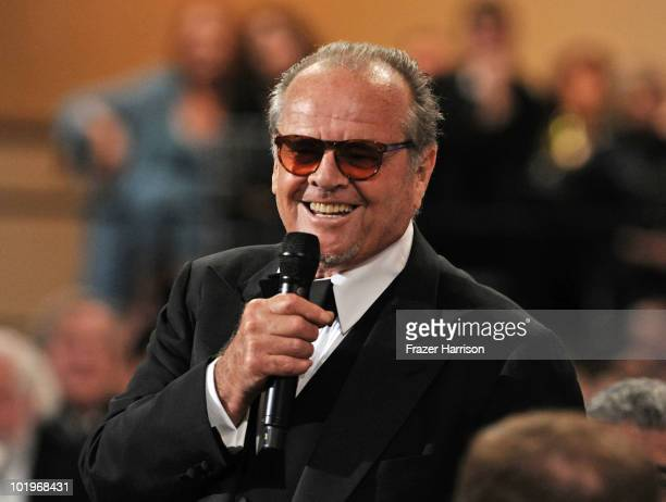 Actor Jack Nicholson speaks during the 38th AFI Life Achievement Award honoring Mike Nichols held at Sony Pictures Studios on June 10 2010 in Culver...