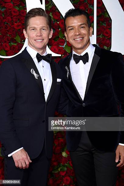 Actor Jack Noseworthy and Choreographer Sergio Trujillo attend the 70th Annual Tony Awards at The Beacon Theatre on June 12 2016 in New York City