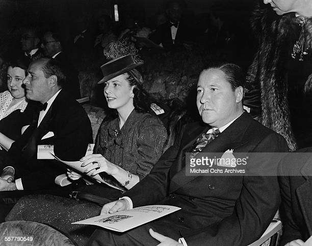 Actor Jack Oakie and his wife Venita Varden attend an event in Los Angeles California