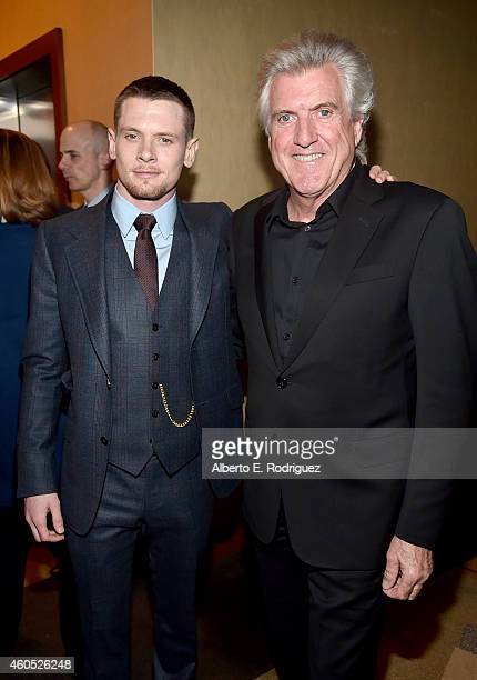 Actor Jack O'Connell and Luke Zamperini attend the premiere of Universal Studios' Unbroken at TCL Chinese Theatre on December 15 2014 in Hollywood...