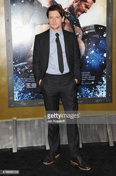 Actor Jack O'Connell arrives at the Los Angeles Premiere '300 Rise Of An Empire' at TCL Chinese Theatre on March 4 2014 in Hollywood California
