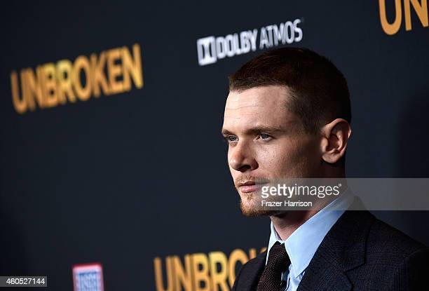 Actor Jack O'Connell arrives at the Premiere Of Universal Studios' Unbroken at TCL Chinese Theatre on December 15 2014 in Hollywood California