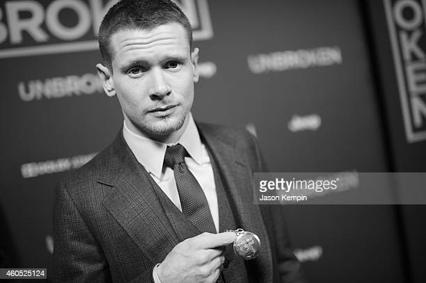Actor Jack O'Connell attends the premiere of Unbroken at TCL Chinese Theatre on December 15 2014 in Hollywood California