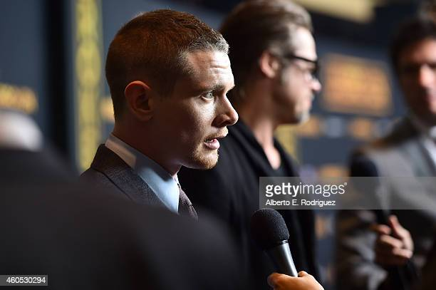 Actor Jack O'Connell attends the premiere of Universal Studios' Unbroken at TCL Chinese Theatre on December 15 2014 in Hollywood California