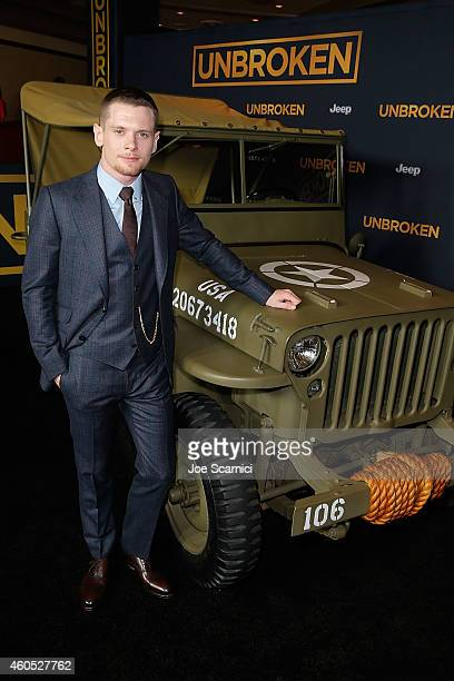 Actor Jack O'Connell attends the Unbroken Los Angeles Premiere Powered By Jeep at Dolby Theatre on December 15 2014 in Hollywood California