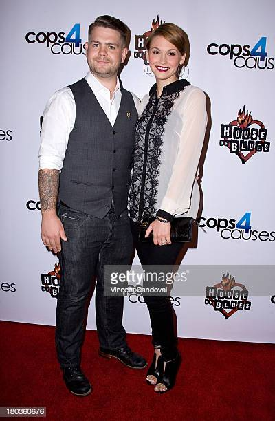 Actor Jack Osbourne and wife Lisa Stelly attend Cops 4 Causes 2nd annual Heroes Helping Heroes benefit concert at House of Blues Sunset Strip on...