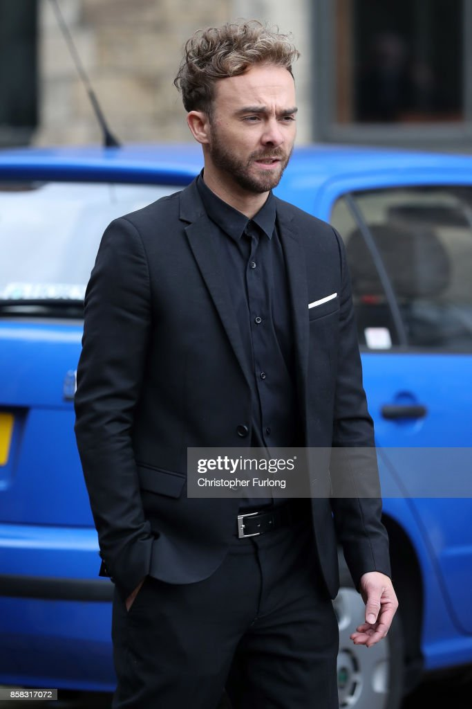 Actor Jack P Shephard departs the funeral of actress Liz Dawson at Salford Cathedral on October 6, 2017 in Salford, England. Actress Liz Dawn who died aged 77, played Vera Duckworth in Coronation Street for 34 years. She was diagnosed with lung disease emphysema and was written out of the show in 2008 at her own request.