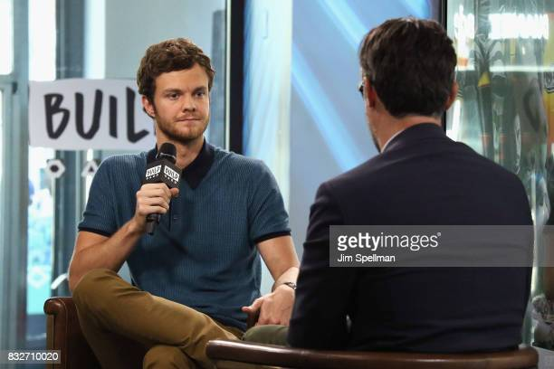 Actor Jack Quaid and moderator Ricky Camilleri attend Build to discuss his new film Logan Lucky at Build Studio on August 16 2017 in New York City
