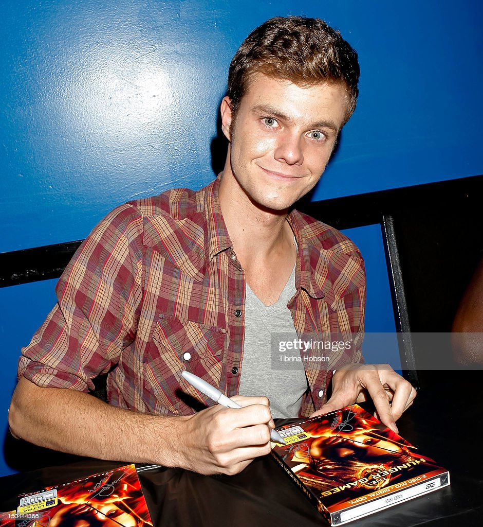 Actor Jack Quaid attends Lionsgate's 'The Hunger Games' blu-ray disc and DVD release and fan signing at Walmart on August 17, 2012 in Santa Clarita, California.