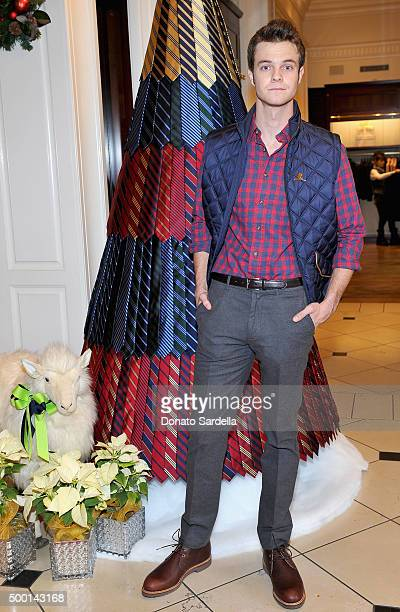 Actor Jack Quaid attends the Brooks Brothers holiday party with St Jude Children's Research Hospital at Brooks Brothers on Rodeo Drive on December 5...