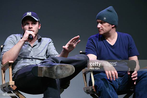 Actor Jack Reynor and director Lenny Abrahamson attend Meet the Filmmaker 'What Richard Did' during the 2013 Tribeca Film Festival at the Apple Store...