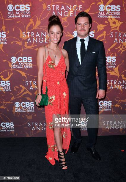 Actor Jack Reynor and Irish model Madeline Mulqueen arrive at the premiere of 'Strange Angel' in Hollywood California on June 4 2018 The 10episode...
