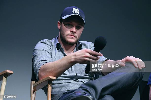 Actor Jack Reynor attends Meet the Filmmaker 'What Richard Did' during the 2013 Tribeca Film Festival at the Apple Store Soho on April 23 2013 in New...