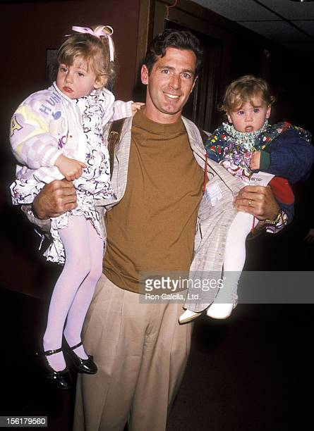 Actor Jack Scalia and daughters Olivia Scalia and Jacqueline Scalia attend the Opening Night Performance of The Moscow Circus on March 6 1991 at the...
