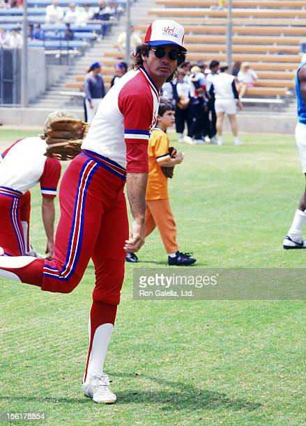 Actor Jack Scalia attends the Hollywood AllStars vs Stars of 'The Bold and the Beautiful' Celebrity Softball Game on June 13 1987 at Pepperdine...