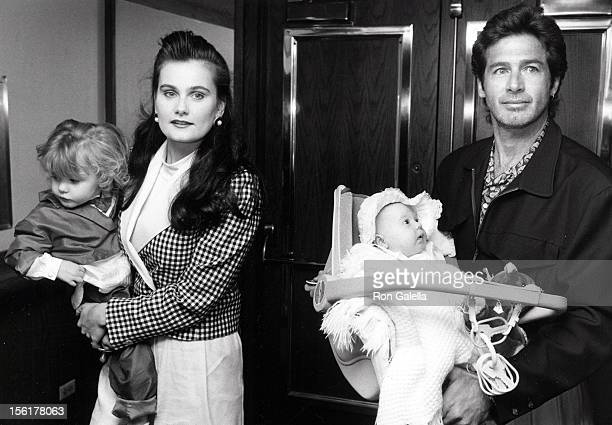 Actor Jack Scalia wife Karen Baldwin and daughters Margaret Scalia and Jacqueline Scalia attending the opening of 'The Moscow Circus' on March 14...
