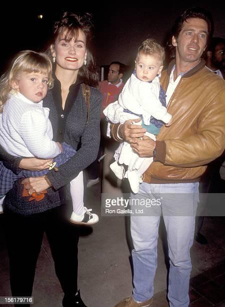 Actor Jack Scalia wife Karen Baldwin and daughters Olivia Scalia and Jacqueline Scalia attend the 'Teenage Mutant Ninja Turtles' Universal City...