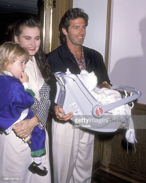 Actor Jack Scalia wife Karen Baldwin and daughters Olivia Scalia and Jacqueline Scalia attend the Opening Night Performance of The Moscow Circus on...