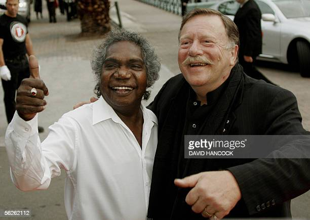 Actor Jack Thompson and former lead-singer of Aboriginal rock band Yothu Yindi Mandawuy Yunupingu arrive for the annual Inside Film awards in Sydney,...