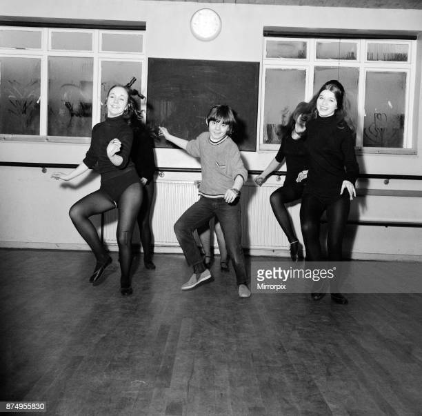 Actor Jack Wild who played the role of the Artful Dodger in the 1968 Lionel Bart musical film Oliver Pictured practising dance moves with other young...