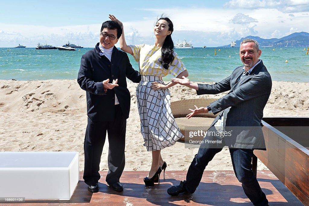 Torch Cannes Day 3 - Emperor Press Junket With Jackie Chan And Fan Bingbing - The 66th Annual Cannes Film Festival : News Photo
