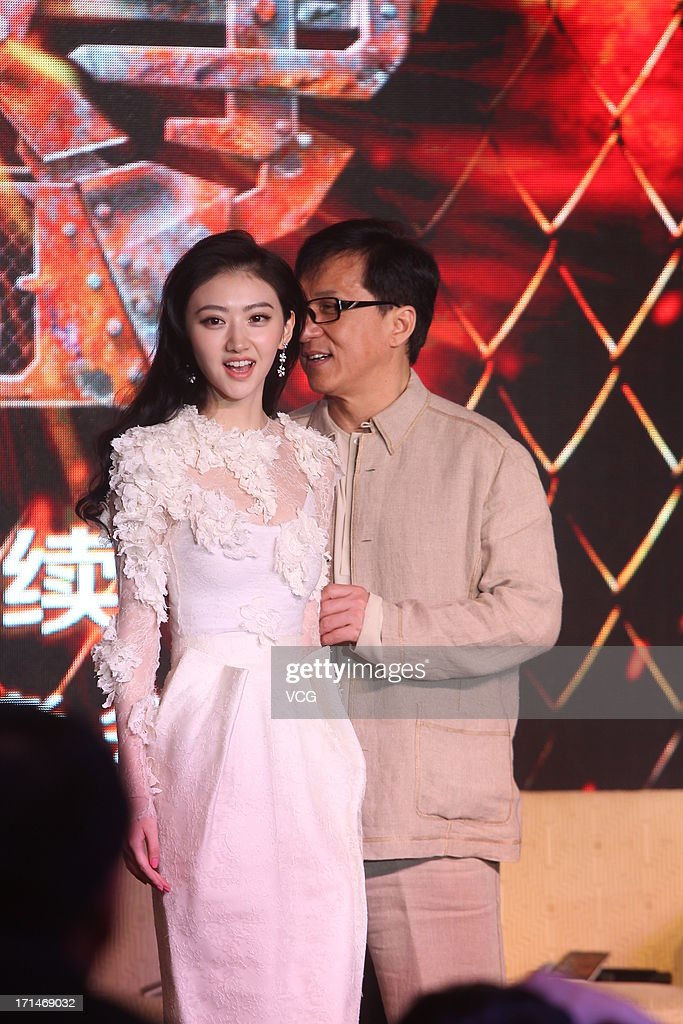 Actor Jackie Chan and actress Jing Tian attend
