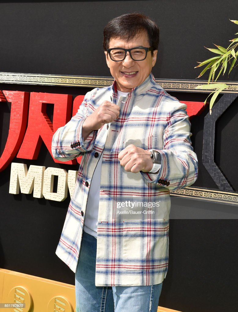 Actor Jackie Chan arrives at the premiere of 'The LEGO Ninjago Movie' at Regency Village Theatre on September 16, 2017 in Westwood, California.