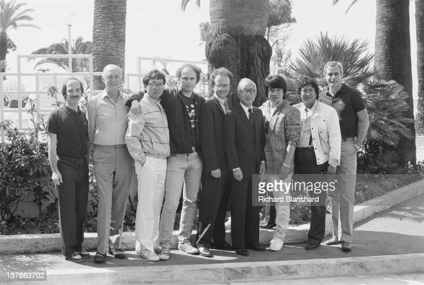 Actor Jackie Chan at a photocall for the film 'The Protector' during the Cannes Film Festival France May 1985