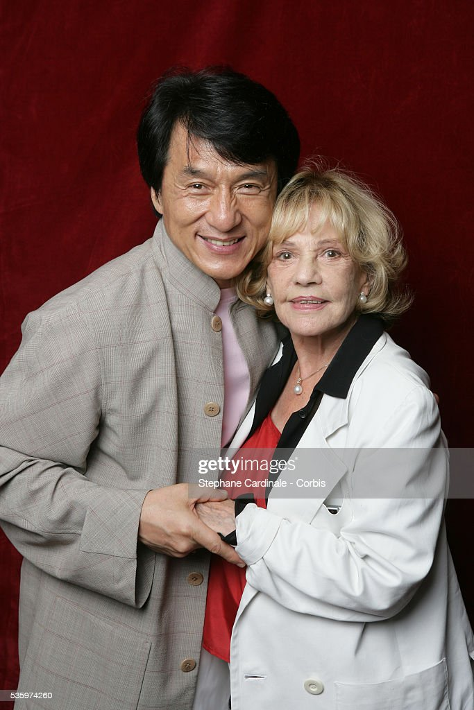 Actor Jackie Chan attends a gala event in honor of Jeanne Moreau at the Flora Danica restaurant in Paris.