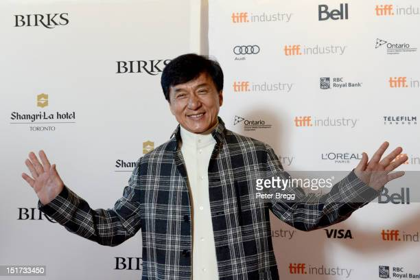 Actor Jackie Chan attends Asian Film Summit Banquet photo call at the 2012 Toronto International Film Festival at the ShangriLa Hotel on September 10...