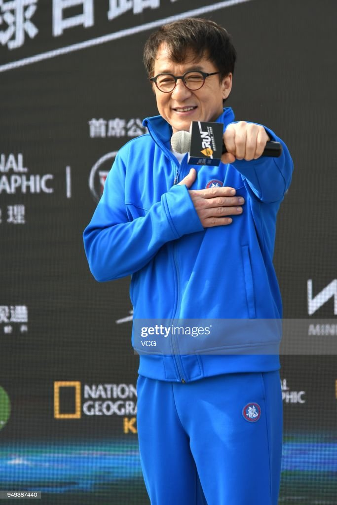 Jackie Chan Attends National Geographic Earth Day Run 2018 In Shanghai