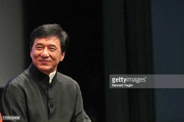 Actor Jackie Chan attends the 2013 New York Asian Film Festival Star Asia Lifetime Achievement Award Ceremony at Walter Reade Theater on June 10 2013...