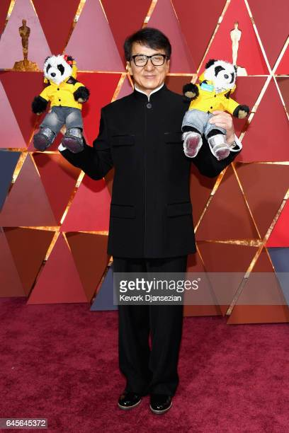 Actor Jackie Chan attends the 89th Annual Academy Awards at Hollywood Highland Center on February 26 2017 in Hollywood California
