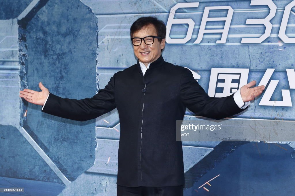 Actor Jackie Chan attends the premiere of South Korean director Chang Yoon Hong-seung's film 'Reset' on June 25, 2017 in Beijing, China.