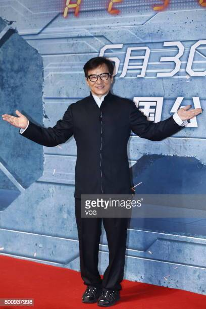 Actor Jackie Chan attends the premiere of South Korean director Chang Yoon Hongseung's film 'Reset' on June 25 2017 in Beijing China