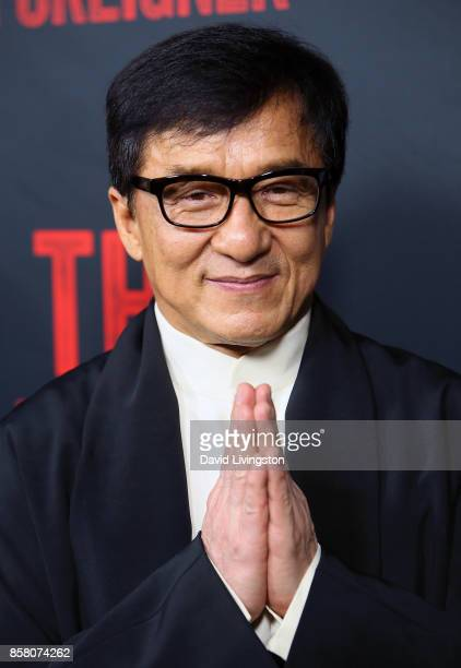 Actor Jackie Chan attends the premiere of STX Entertainment's 'The Foreigner' at ArcLight Hollywood on October 5 2017 in Hollywood California