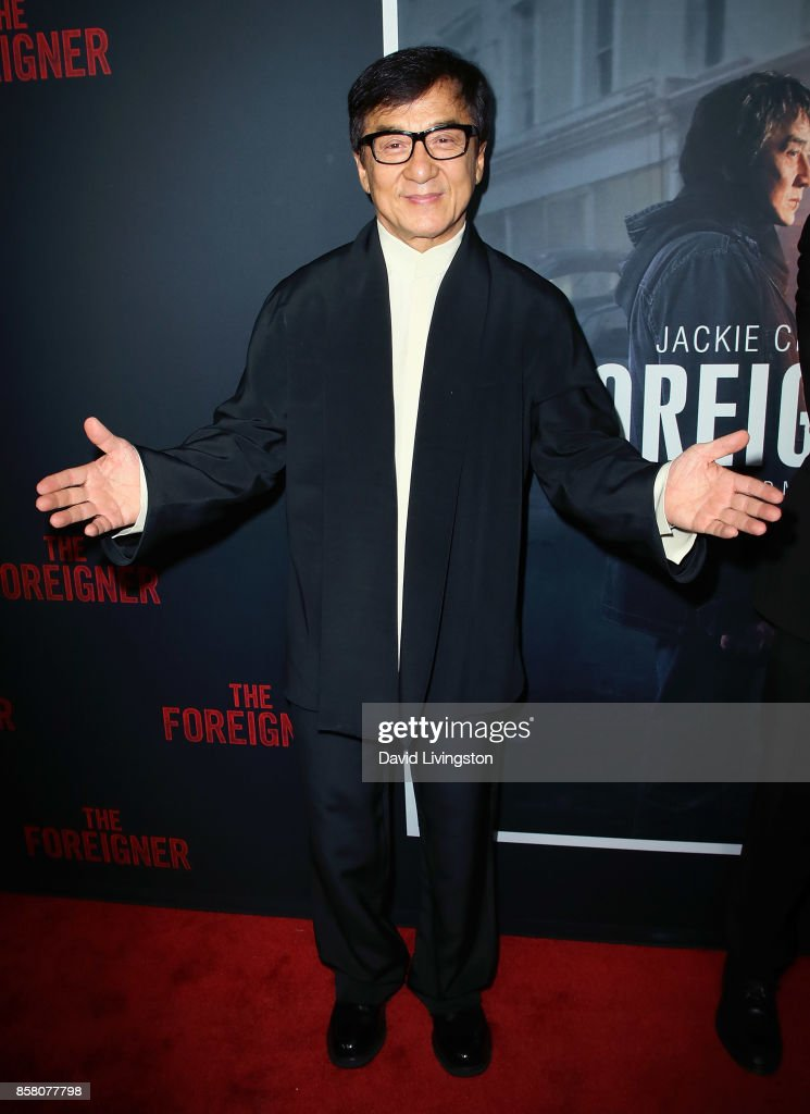 Actor Jackie Chan attends the premiere of STX Entertainment's 'The Foreigner' at ArcLight Hollywood on October 5, 2017 in Hollywood, California.