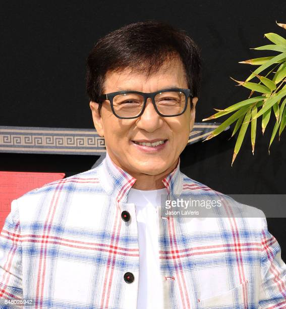 Actor Jackie Chan attends the premiere of 'The LEGO Ninjago Movie' at Regency Village Theatre on September 16 2017 in Westwood California