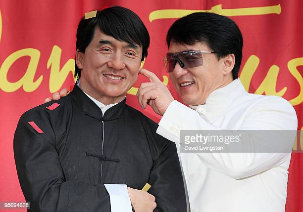 Actor Jackie Chan attends the unveiling of his wax figure at Madame Tussauds Hollywood on January 11 2010 in Hollywood California