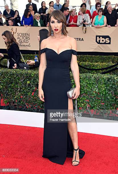 Actor Jackie Cruz attends The 23rd Annual Screen Actors Guild Awards at The Shrine Auditorium on January 29, 2017 in Los Angeles, California....
