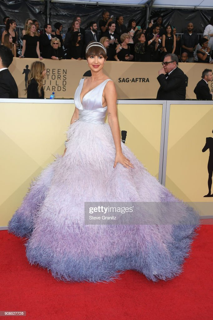 Actor Jackie Cruz attends the 24th Annual Screen Actors Guild Awards at The Shrine Auditorium on January 21, 2018 in Los Angeles, California.